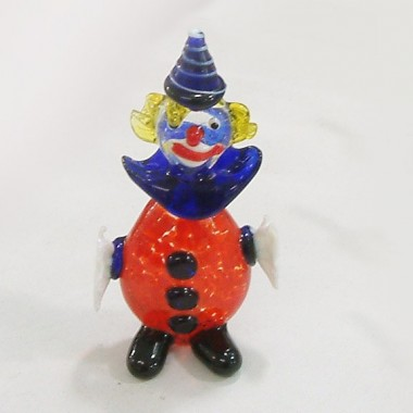 Clown bombé en verre