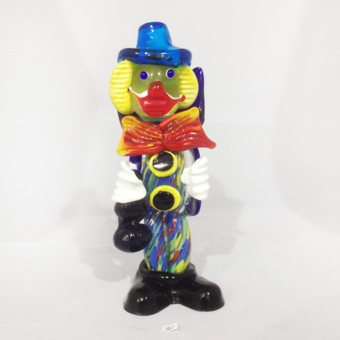 Grand clown en verre