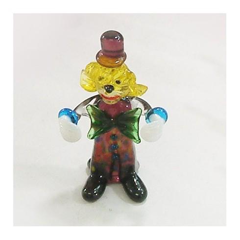 Clown sur socle en verre