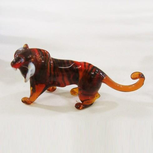 Grand tigre en verre