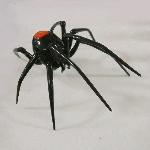 Araignée pointe rouge en verre