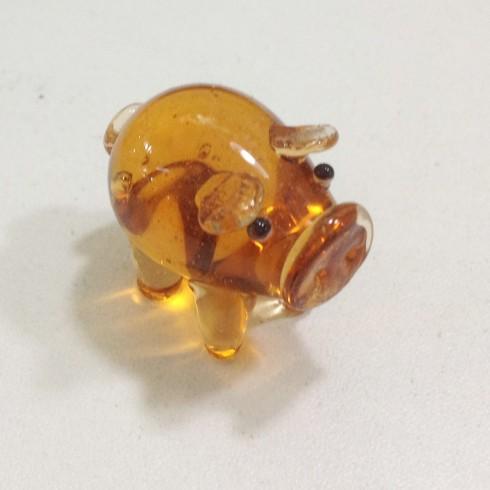 Cochon en verre