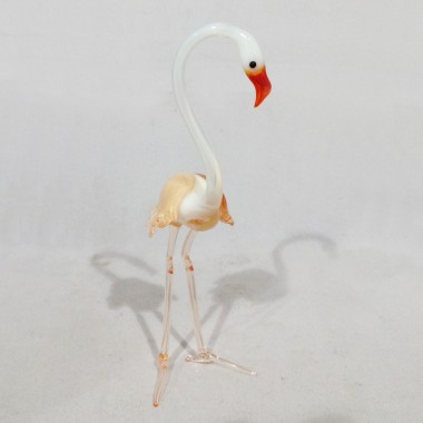 Flamant rose blanc