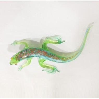Grande salamandre en verre