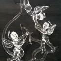 Trio d'anges en verre