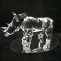 Rhinocéros en verre