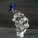 Papillon coloré en verre