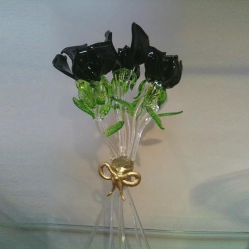 Bouquet de roses en verre