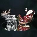 Traineau du Père Noël en verre