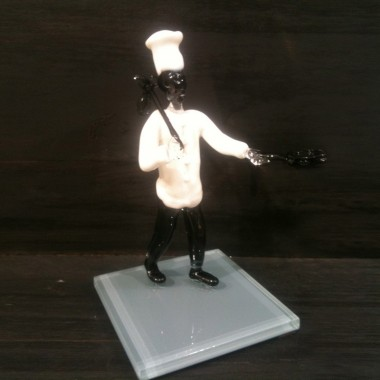 Chef cuisinier en verre