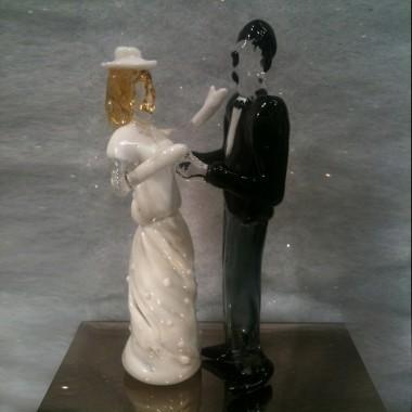 Couple de mariés en verre