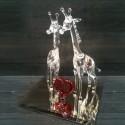 Couple de girafes en verre