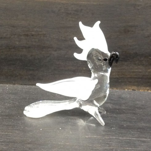 Perroquet en verre