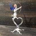 Ange sur coeur en verre
