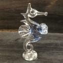 Hippocampe sur socle en verre