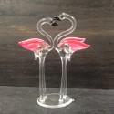 Flamant rose en verre