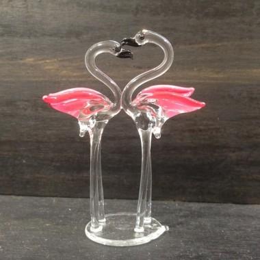 Couple de flamants rose