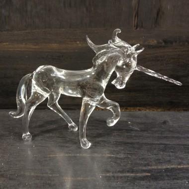 Grande licorne en verre