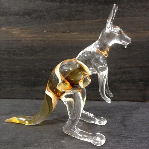 Kangourou en verre&
