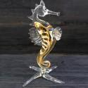 Hippocampe rayé en verre