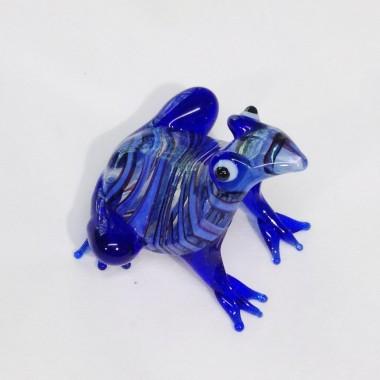 Grenouille colorée en verre