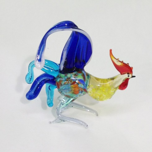 Coq coloré en verre
