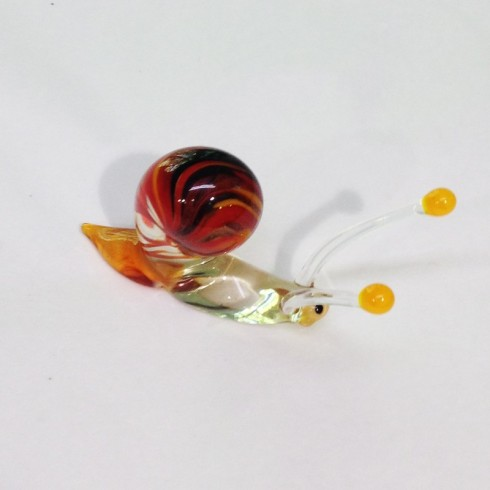 Grand escargot en verre