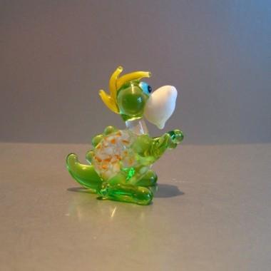 Dinosaure fantaisie en verre