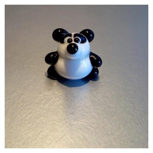Panda rigolo  en verre