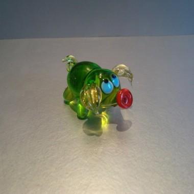 Cochon vert en verre