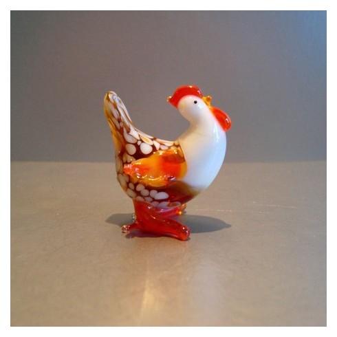 Poule en verre