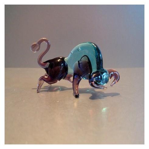 Taureau bicolore en verre