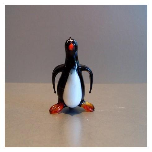 Pingouin fantaisie en verre