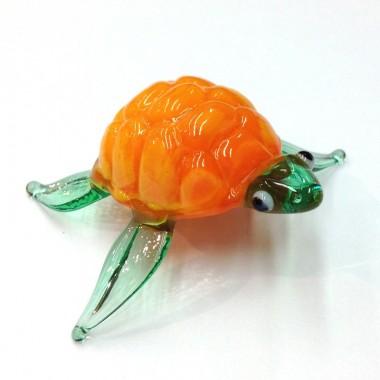 Tortue de mer orange
