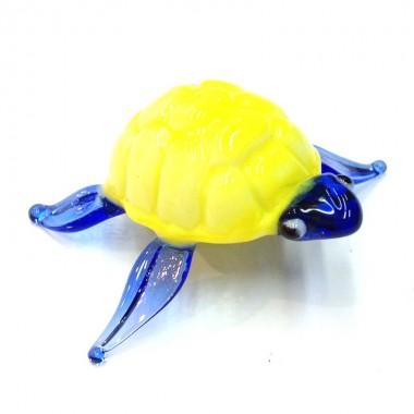 Tortue de mer jaune