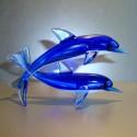 Couple de dauphin en verre