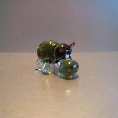 Hippopotame en verre