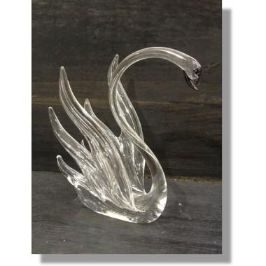 Cygne en verre transparent