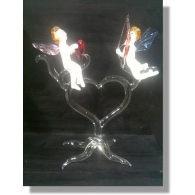 Ange en verre de couleurs en verre