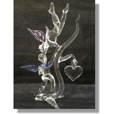 Anges en verre de couleur en verre