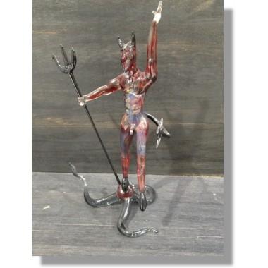 Diable en verre rouge