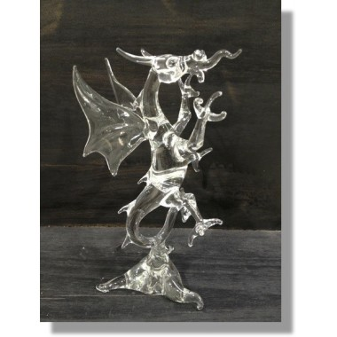 Dragon chinois en verre transparent