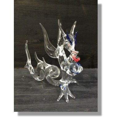 Dragon chinois en verre Grand modèle