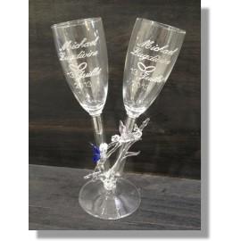 Duo de verre en verre avec ange