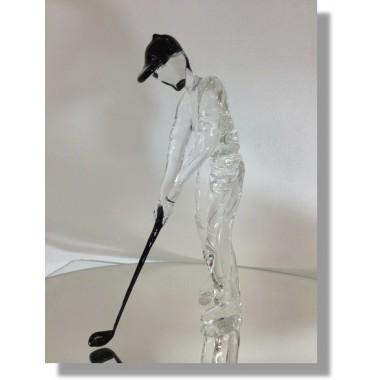 Golfeur en verre