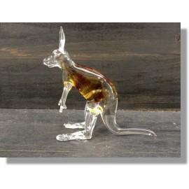 Kangourou en verre