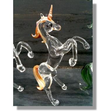 Licorne en verre marron