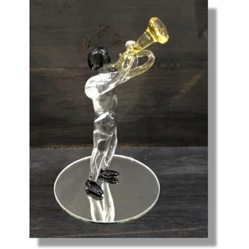 Musicien en verre avec sa trompette