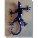 Salamandre en verre bleu