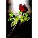 Grande rose en verre